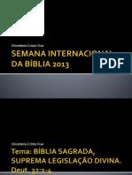 SEMANA INTERNACIONAL DA BÍBLIA 2013