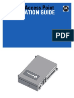 Motorola Solutions AP622 Access Point Installation Guide (Part No. 72E-157808-01 Rev. a) 15780801a