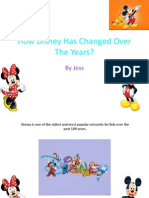 how disney has changed over the years