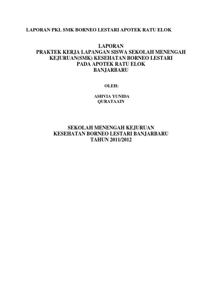 Contoh Laporan Pkl Smk Farmasi Di Apotek Pdf