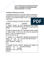 ESTRATEGIAS DE ME RCADOS NUEVOS Y EN CRECIMIENTO Y OPCIONES DE ESTRATEGIAS PARA