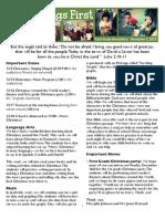 December 2 Newsletter
