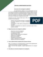 Características del proceso de la investigación cualitativa
