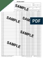 Project Takeoff Sheet