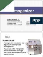 Homogenizer
