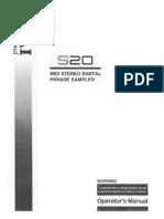 akai s20 sampler manual