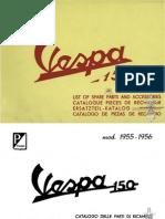 Vespa 150 Part Book