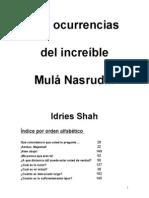 Shah I_Las Ocurrencias Del Increible Mula Nasrudin