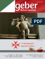 Ratgeber aus Ihrer Malteser-Apotheke – Dezember 2013