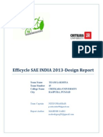 Design Report Team Lakshya SAE Efficycle