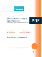 Telecommunication Electronics - Global Trends, Estimates and Forecasts, 2011-2018