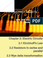 2.0 Electric Circuits