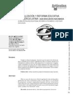 GLOBALIZACIÓN Y REFORMA EDUCATIVA