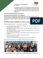 SOLS 24/7 Community & Education Project 100 Job Description - Malaysia