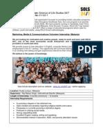 SOLS 24/7 Marketing, Media & Communications Internship Job Description - Malaysia