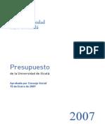 Pre Supuesto 2007