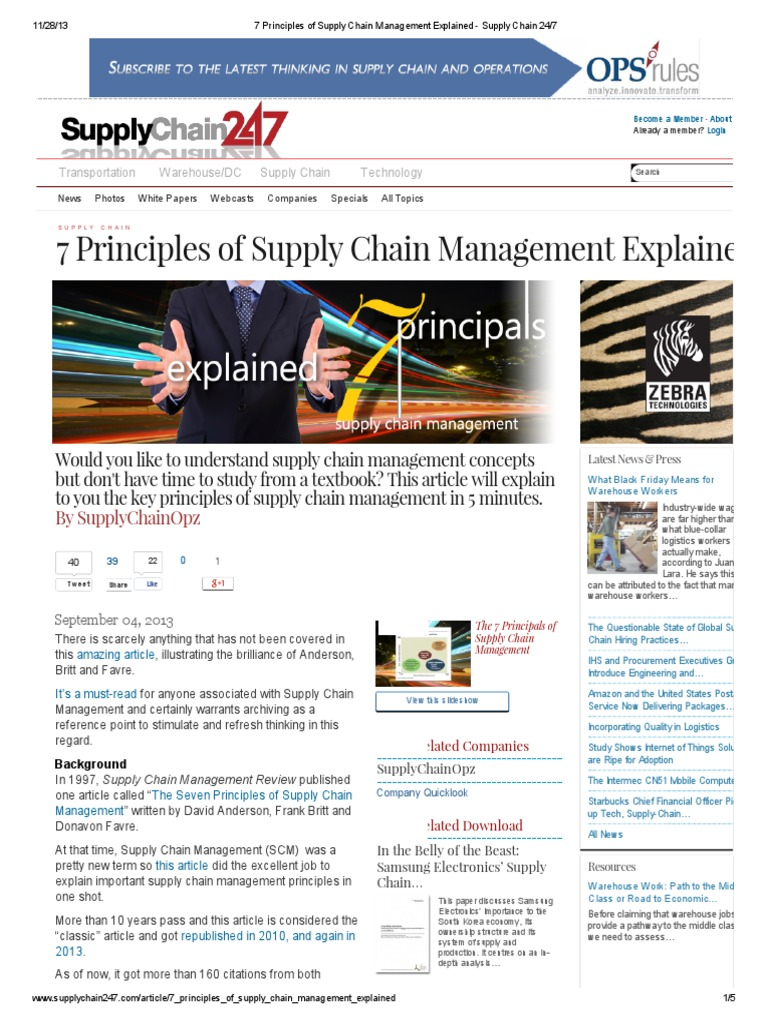 7 Principles of Supply Chain Management | Enterprise