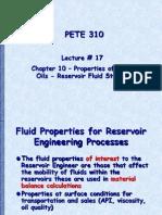 Reservoir Fluid Studies