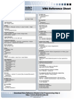 Vb Reference Sheet