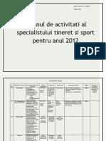 Plan de Activitati Pu Anul 2012