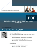 PS2013 Designing ProjectServer2013 Workflows