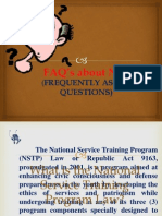 Faqs About Nstp