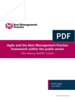 Agile and the Best Management Practice Framework Within the Public Sector