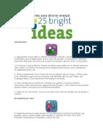 25 ideas brillantes para ahorrar energía
