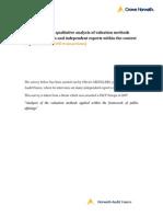 Quantitative and Qualitative Analysis Valuation Methods