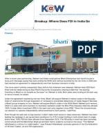 Knowledge.wharton.upenn.edu-The BhartiWalmart Breakup Where Does FDI in India Go Next