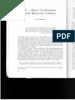 READING 1 - Leavis - Mass Civilization and Minority Culture
