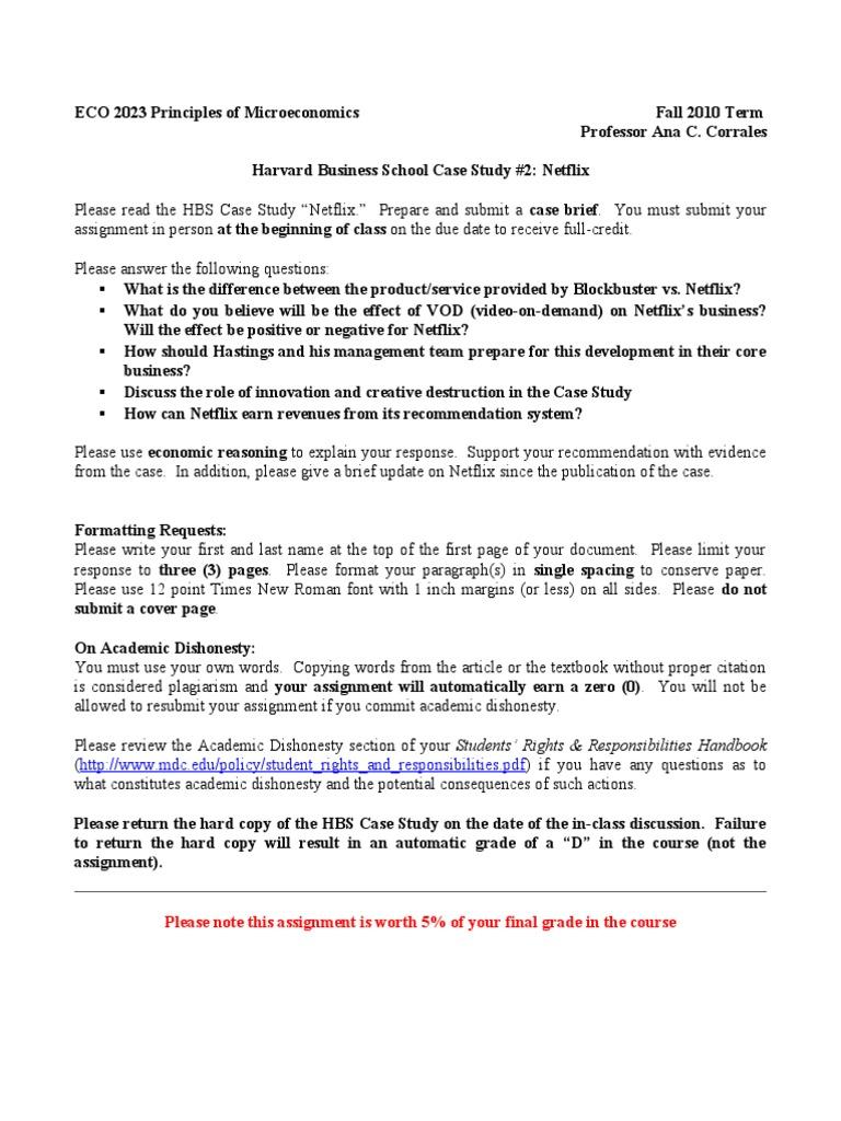 Netflix Case Study Executive Summary   Solution  Analysis   Case     Brandable Magazine