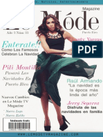 Chanty Vargas Edicion Diciembre 2013 Le Mode TV Magazine