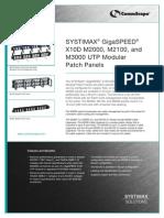 GigaSPEED X10D UTP Panel Product Brief 3-13-08
