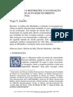 Liberdades e Restrições à Navegação Marítima em Alto Mar no Direito Internacional