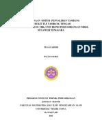 129667522 Perencanaan Sistem Penyaliran Tambang Di Bukit TLF Tambang Tengah PT Aneka Tambang Tbk UBPN Sulawesi Tenggara
