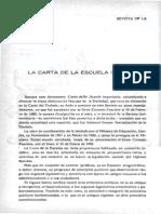 Carta de La Escuela Italia 1939
