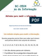 Aulas 5 e 6 de Natureza da Informação (27 e 29 de Setembro 2010)