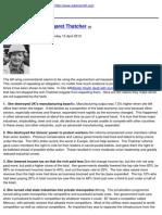 Adam Smith Institute - Ten Myths About Margaret Thatcher - 2013-04-15