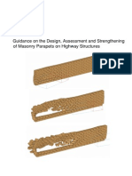 Guidance on the Design Assessment and Strengthening of Masonry Parapets on Highway Structures