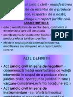 Actul Juridic Civil