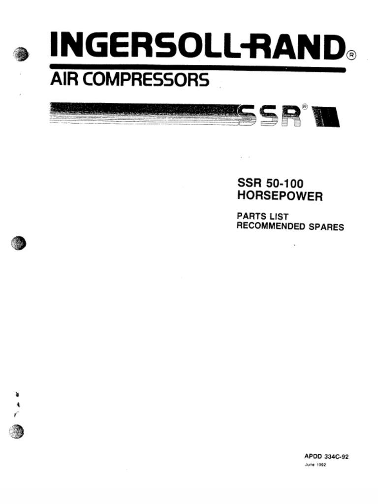 Ingersoll Rand Ssr 50-100