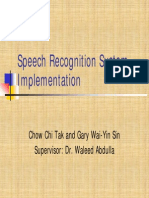 speech recognition project