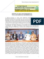 REPORT ON CME-CUM-WORKSHOP ON YOGA AND LIFESTYLE DISORDERS 2013