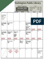 WWPL December 2013 Calendar