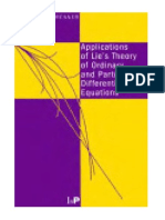 44522365 Application of Lie s Theory of Ordinary and PDEs
