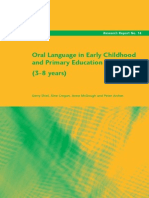 Oral Language in Early Childhood and Primary Education (3-8 Years)