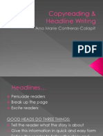 Copy reading & Headline writing - Copy (1).ppsx
