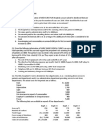 Operating Costing Problems