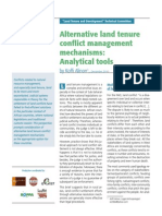 Alinon_Alternative Land Tenure and Conflict Managment Mechanisms. Analytical Tools